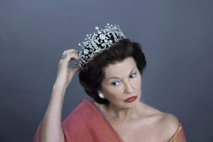 Stephanie Beacham (wearing an exact copy of Princess Margaret's Poltimore tiara), as HRH The Princess Margaret, Countess of Snowdon Photo credit: Gareth McLeod