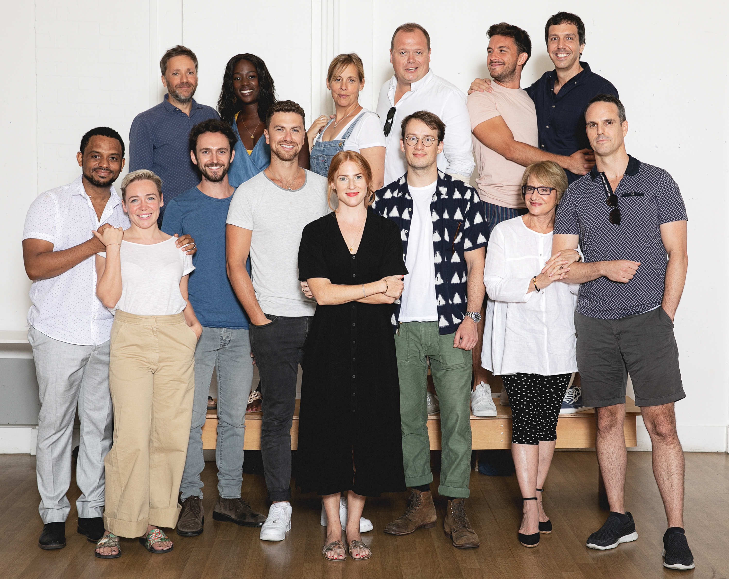 The Cast of Company Begin Rehearsals